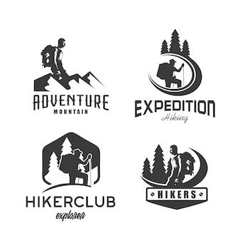 Hiking Logo Vector