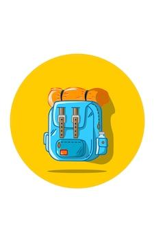 Hiker's backpack illustration