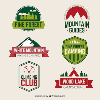 Hiking and camping badges
