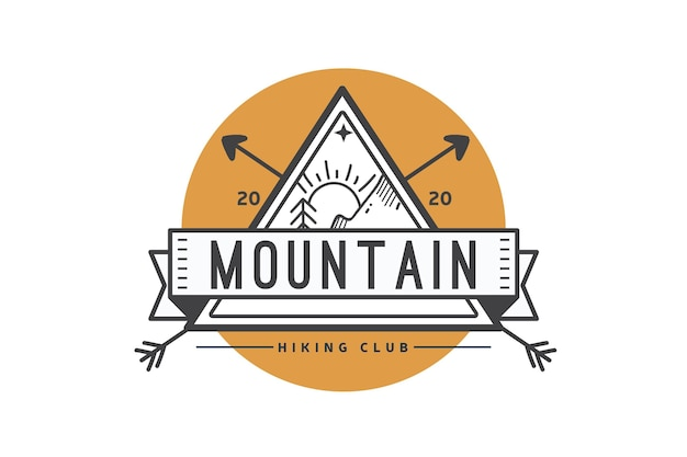Hiking club logo template