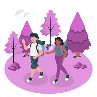 ハイキングの概念図