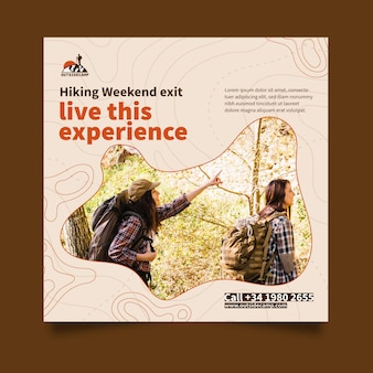 Hiking flyer square