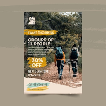 Hiking flyer template