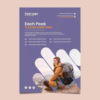 Hiking flyer vertical template