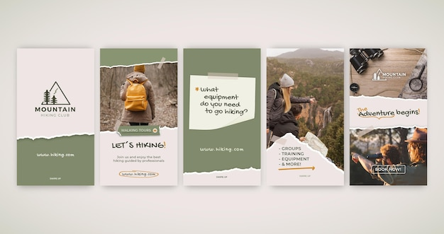 Hiking instagram stories collection
