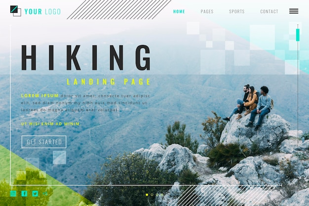 Pagina di destinazione escursionistica