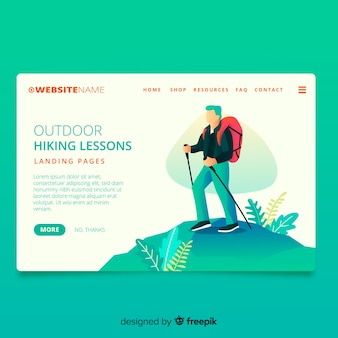 Hiking lessons landing page