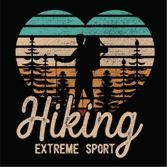 Sillhoueteのハイキング