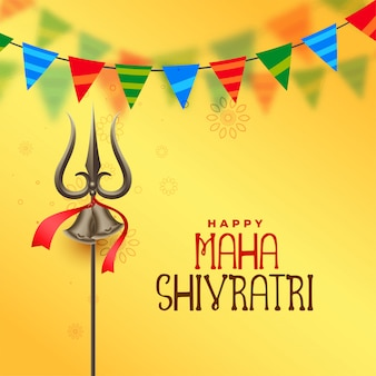 Hindu festival maha shivratri greeting background