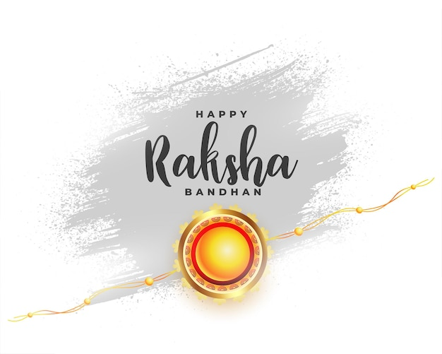 Hindu festival of raksha bandhan greeting design