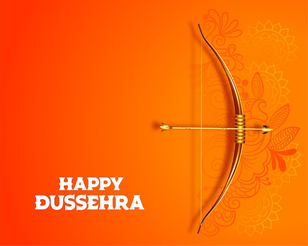 Hindu happy dussehra festival card design