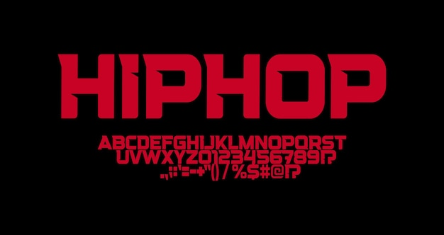 Hip hop font sharp angles letters strong suburban logo and tshirts typography minimalistic