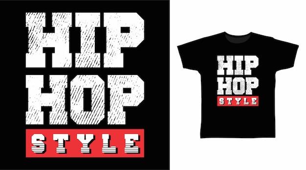 티셔츠 디자인을 위한 힙합 스타일의 타이포그래피