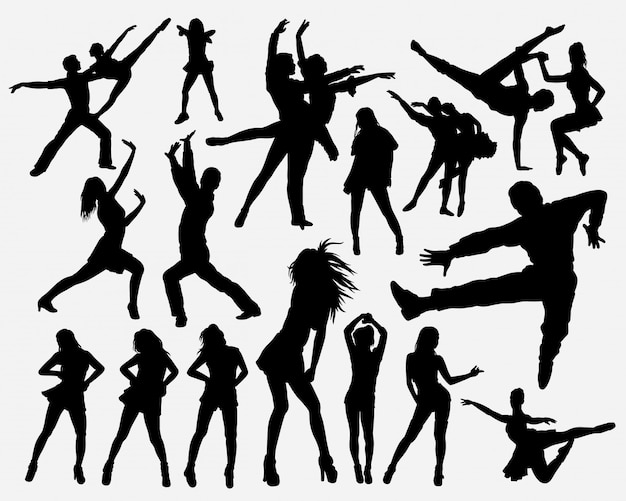 Hiphop dance silhouette