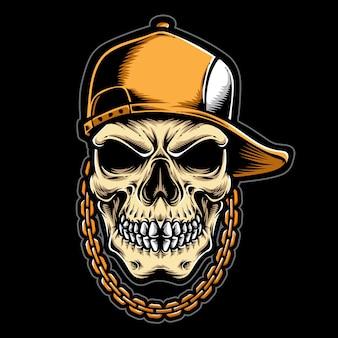 Логотип хип-хоп череп