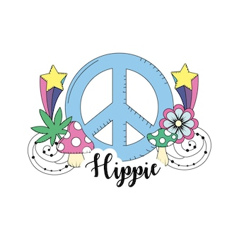 Hippie culture of peace and love to lifestyle