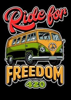 Hippie vitage bus