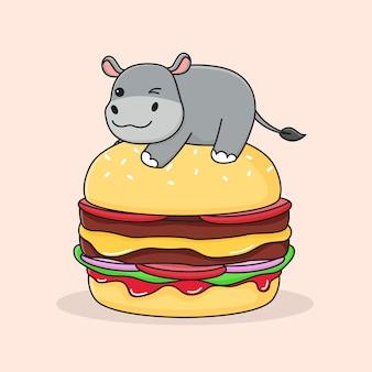 Hippo on burger