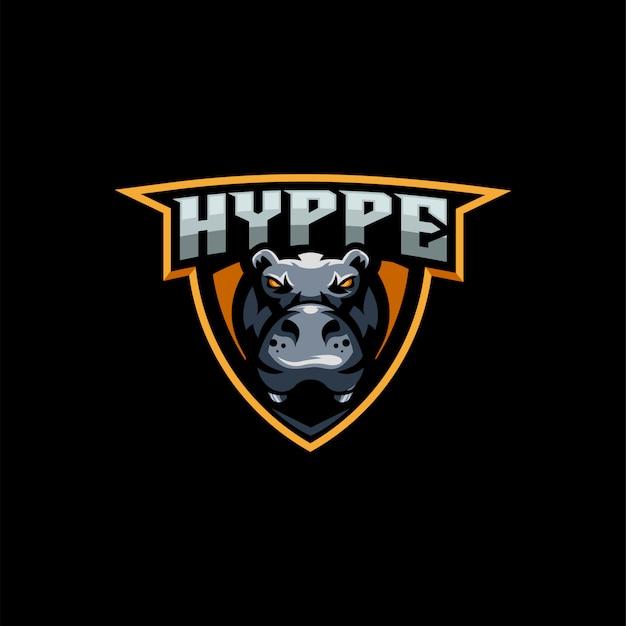 Hippo e-sport logo design