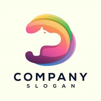 Hippo media logo design