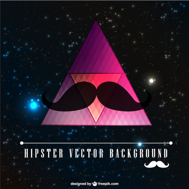 Hipster background with black moustache
