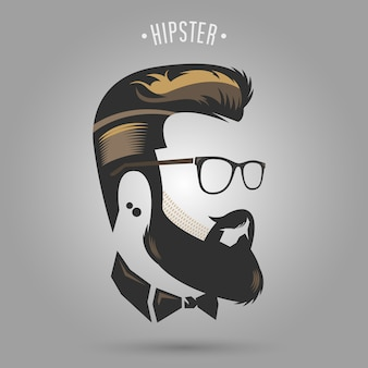 Hipster brown hair