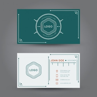 Hipster business card design Free Vector