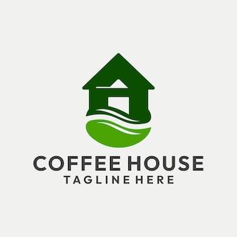 Hipster coffee house logo vector