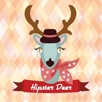 Hipster deer poster