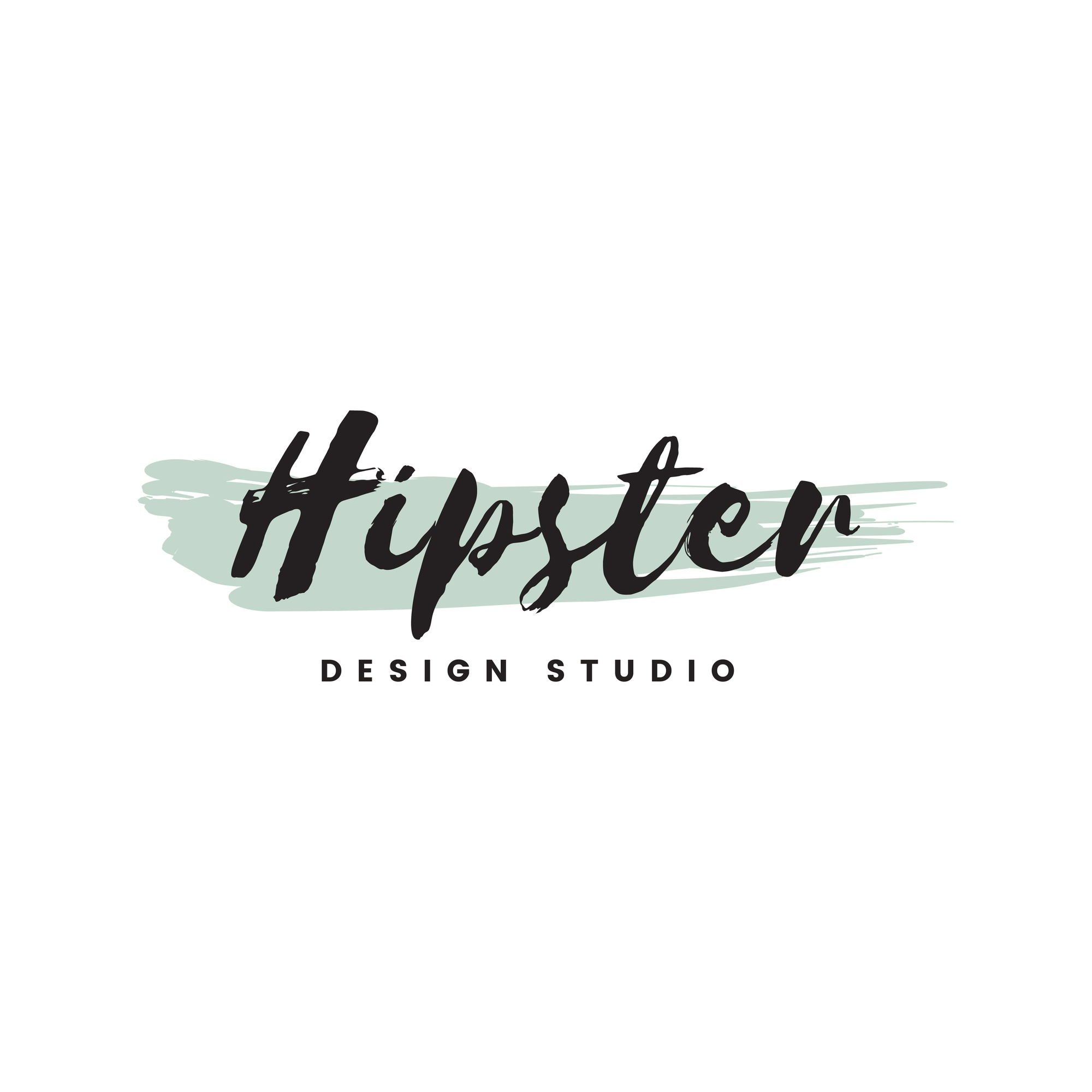 Hipster design studio logo vector