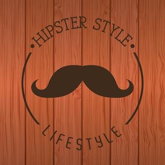 Hipster design over wooden background vector  illustration