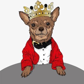 Битник собака в золотой короне