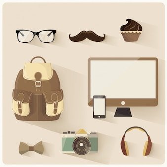 Hipster elements collection