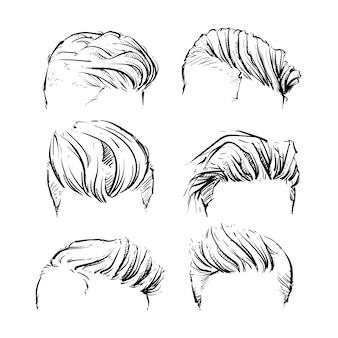 Hipster fashion man hair, бороды, ручная работа