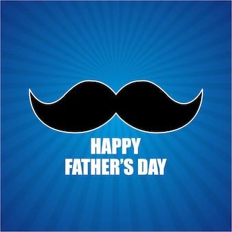 Giorno dei padri felici sfondo blu