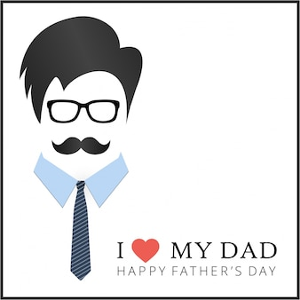 Hipster father's day design