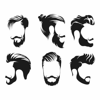 Hipster hair, mustaches and beards