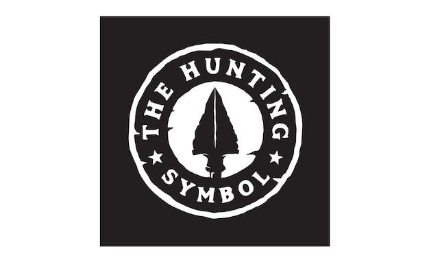 Hipster hunting logo design