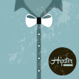 ヒップスター、イラスト、青、背景、古い、スタイル、ベクトル Premiumベクター