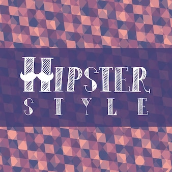Hipster illustration over retro background old style vector