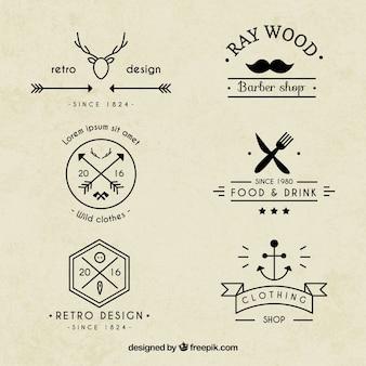ヒップスターのロゴコレクション