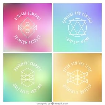 Hipster logos Free Vector