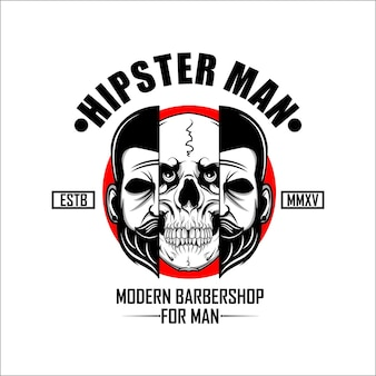 Hipster man barbershop