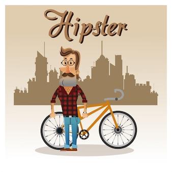 ヒップスターマン漫画、バイクアイコン付き