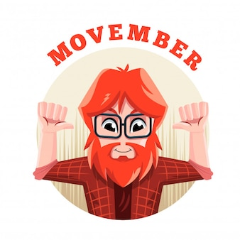 Hipster movember character