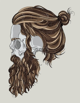 Hipster movember skull