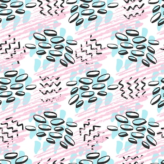 Hipster 완벽 한 패턴입니다. 핑크와 블루 색상의 패션 배경입니다. 인쇄, 직물, 섬유, 포장을위한 벡터
