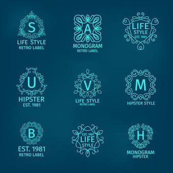 Монограмма hipster set