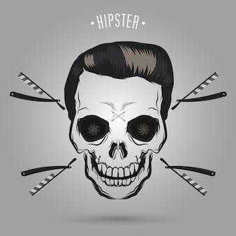 Hipster skull barber
