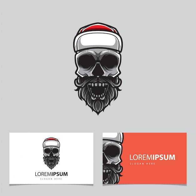 Hipster skull card template